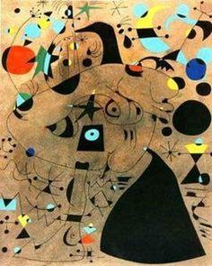 Mujer en la noche - (Joan Miro)