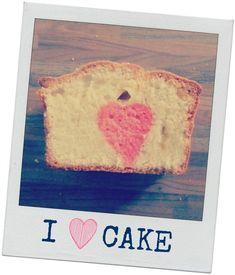 How-to: cake met gekleurd hartje in het midden bakken. (how-to: cake with pink heart in the middle).