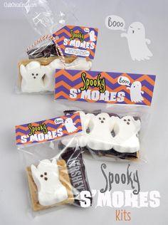 Spooky S'mores Free Printable Bag  - Orange and Purple Zigzag Basic, BOO, 2014 Halloween