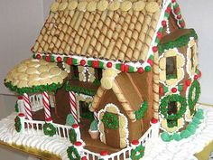 This Gingerbread Dough Is Sturdy Enough to Make a House - This gingerbread house dough recipe, while edible, is not meant to be eaten. It is firm and sturdy - Gingerbread House Pictures, Gingerbread House Patterns, Gingerbread Dough, Gingerbread House Parties, Christmas Gingerbread House, Noel Christmas, Christmas Goodies, Christmas Baking, Gingerbread Cookies