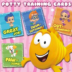 Try these printable reward cards for extra potty training encouragement.
