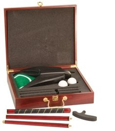 "Personalized Rosewood Finish Executive Golf Set for ONLY $75.50! Personalized with ANYTHING you want!  Perfect for Birthday gift, Father's Day gift, Christmas Gift, or just a ""Thinking of You"" Gift"