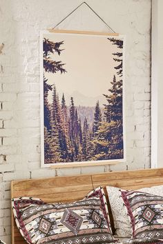 $129 print hang like this  Kurt Rahn Mountains Through The Trees Art is Print