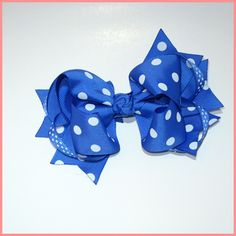 Boutique  Royal Blue with White Hair Bow