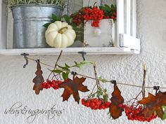 Ideas and Inspirations: Rostige Herbstdekoration * rusty fall decoration
