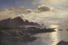 Artwork by Karl Paul Themistocles von Eckenbrecher, Felsige Küste bei Andenes auf Andoey in Nordnorwegen, Made of Oil on canvas
