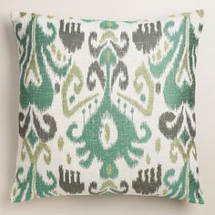 One of my favorite discoveries at WorldMarket.com: Cool Ikat Jacquard Throw Pillow