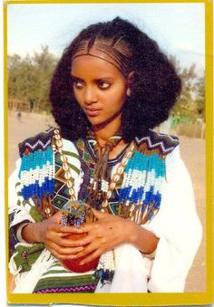 Ethiopia and Somali women traditional hair style.
