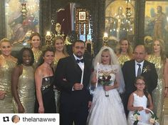 So happy I got to be apart of such a special day and meet so many wonderful people  #Repost @thelanawwe ・・・ The Bridal & Groom party ! The #Bulgarian tradition and married in a Greek Orthodox Church !!!! #Bulgaria traditions & weddings are incredible I can't wait for the Universe to see it on #TotalDivas !!!!