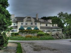 The Lighthouse Inn in New London, Connecticut  - opened in 1902   - a young bride died here; she is seen still dressed in her wedding dress either quietly reading or wandering the Inn, the smell of perfume accompanies her spirit  - the spirit of a young girl is seen and heard playing, laughing, and running in the hallways, she opens & closes doors  - another female apparition in an old-fashioned dress is seen wandering the hallways, phantom footsteps are heard throughout