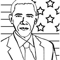 44th President Coloring Page Coloring Pages Worksheets Barack Obama Coloring Page