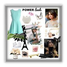 """power L;) :) K"" by kkristenlove on Polyvore featuring Chicwish, Nika, Creative Displays, Laura Mercier, Too Faced Cosmetics, Vans, Luv Aj, New Look, WALL and Seletti"