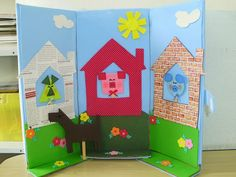 Decorate cardboard to use as area divider, reader corner.
