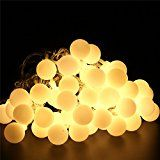 BlueFire 50 LED 31ft/9.5m Globe String Lights Starry Light Ball Fairy Light with 8 Different Lighting Function... christmas deals week
