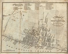 Map of Brighton in the seventeenth century