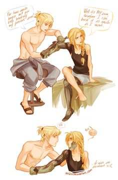 fma, full metal alchemist, genderbend winry rockbell edward alric ,,,, HOLY CRAP!!! *nose bleed and dies* X,X