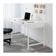 """ALEX Desk - white - IKEA Width: 51 5/8 """" Depth: 23 5/8 """" Height under furniture: 24 3/8 """" Height: 29 7/8 """""""
