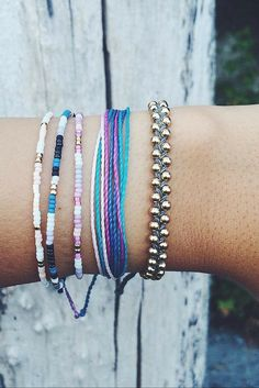 Every bracelet purchased from Pura Vida helps provide full-time jobs for local artisans in Costa Rica.