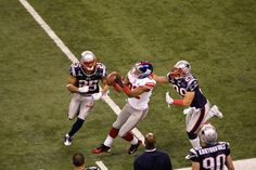 Super Bowl XLVI: New York Giants 21, New England Patriots 17. The Patriots were undefeated in the regular and post season leading up to the Super Bowl and blew out most of their opponents so people thought the same would happen. Little did they know the NY Giants defense particularly the front 4 would derail the New England train.