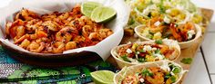 This Old El Paso recipe combines prawns fresh corn slaw and Stand 'n Stuff Soft Tacos to create a delicious Mexican meal.  These tacos will impress for lunch or dinner!