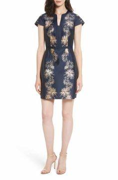 b3acb17610ad7f Ted Baker London Tzalla Sculpted Stardust Jacquard Dress Jacquard Dress