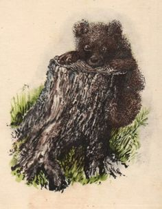 Открытки с репродукциями: Художник Е. Чарушин - «Любопытный медвежонок»