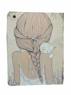 Happybuy® Mädchen Muster farbigen Zeichnung IPad Cover (EUR 12,99)