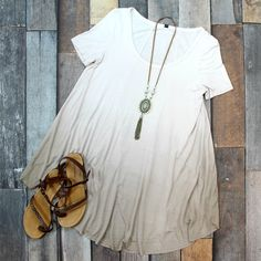 We're LOVING this BRAND NEW Boho Ombre Tunic in Tan we got in today! Get it for JUST $37 at Entourage!