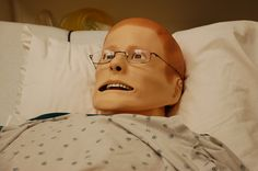 And even the *modern* training dummies for nurses are still creepy as hell! Gah!