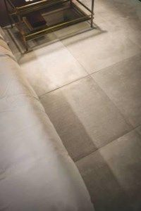 The Bruges Beige is a reproduction of the Belgian blue limestone but made with Italian porcelain - lovely.  #porcelain #tiles #flooring