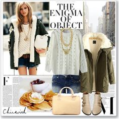 """""""Classic Cable Knit"""" by saralemon on Polyvore"""
