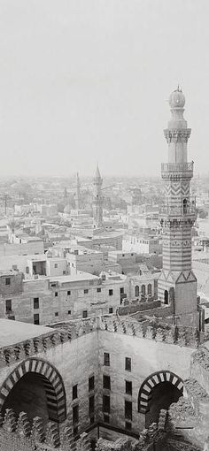 From Mosque of Ibn Tulun. Cairo, Egypt 1900-1920.: