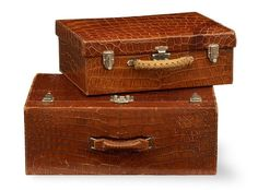 Karen Blixen's Crocodile Hermès Luggage Case From Out of Africa Damir Doma, Vanity Case, Karen Blixen, British Colonial Decor, Luggage Case, Art Deco, Vintage Luggage, Vintage Suitcases, Out Of Africa