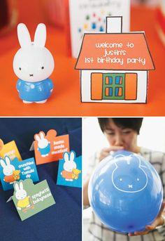 Miffy (aka Nijntje) birthday party ideas