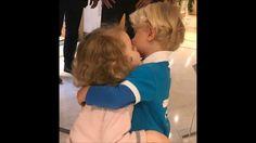 Prince Jacques & Princess Gabriella first haircut at the hairdresser