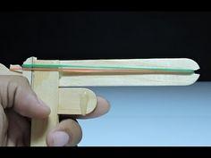 How to make a Rubber Band Gun - Pocket Pistol Rubber Band Crafts, Rubber Band Gun, Laser Tag Party, Kids Activities At Home, Pocket Pistol, Custom Glock, Art And Craft Videos, Robots For Kids, Diy Cardboard