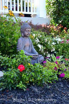 Add an outdoor Buddha statue for a zen garden feel