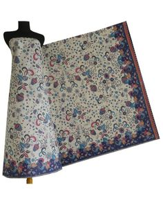 Kain batik Cibulan 209-Biru-Putih