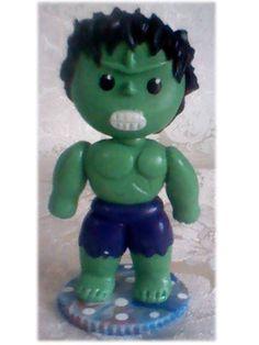 Hulk bebe, hecho en masa flexible.