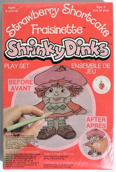 S212 Vintage Strawberry Shortcake Shrinky Dinks Play Set by Colorforms 1981 | eBay