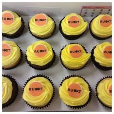 Asking R U OK? is about making people feel like they belong and creating connections. Through this we can help others feel connected long before they even think about suicide. This is a very important message and hopefully these cupcakes will remind and e