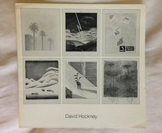 """DAVID HOCKNEY RARE """"The Weather and Other Lithographs"""" original exhibition brochure Andre Emmerich Gallery New York 1973"""