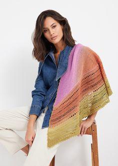Lana Grossa SHAWL Cool Wool Lace Hand-dyed - Tücher & Co. No. 5 - Magazine (DE) + Knitting instructions (EN) - Design 1   FILATI Online Shop