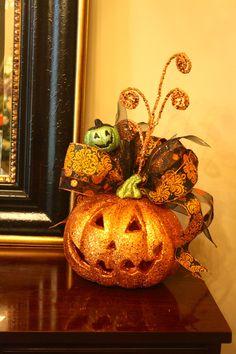Custom Decorated Halloween Pumpkins. $45.00, via Etsy.~ super cute