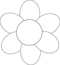 Flower Outline Coloring Pages Applique Patterns, Flower Patterns, Felt Patterns, Flower Ideas, Templates Printable Free, Printables, Flower Template Printable, Applique Templates Free, Owl Templates