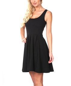 Look at this #zulilyfind! Black A-Line Sleeveless Dress - Women by White Mark #zulilyfinds