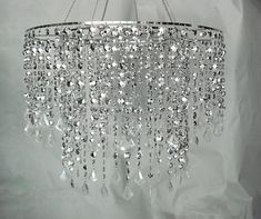 24 D Multi Diamond Cut Chandelier - Silver Large Silver Chande] : Wholesale Wedding Supplies, Discount Wedding Favors, Party Favors, and Bulk Event Supplies Chandelier Bedroom, Beaded Chandelier, Chandelier Crystals, Home Lighting, Chandelier Lighting, Lighting Ideas, Wedding Supplies Wholesale, Decoration, Wedding Designs