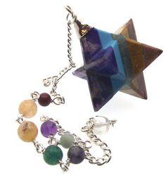 Merkaba-Star-Bonded-Gemstone-Chakra-Pendulum-Dowser