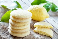 Homemade Bakery Products Stack Shortbread Cookies Stock Photo (Edit Now) 383324455 Lemon Shortbread Cookies, Lemon Sugar Cookies, Coconut Cookies, Cookie Recipes, Snack Recipes, Snacks, Vegetarian Recipes, Cookies Et Biscuits, Sweet Recipes
