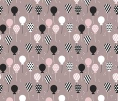 Party balloon fun birthday wedding theme in modern pastel colors fabric by littlesmilemakers on Spoonflower - custom fabric